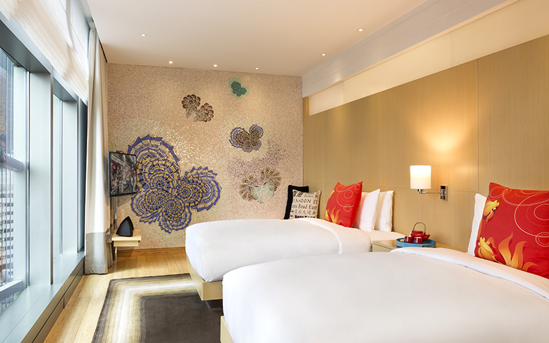 Everything from the cushions to teapots are for sale. Photo: Hotel Indigo Hong Kong