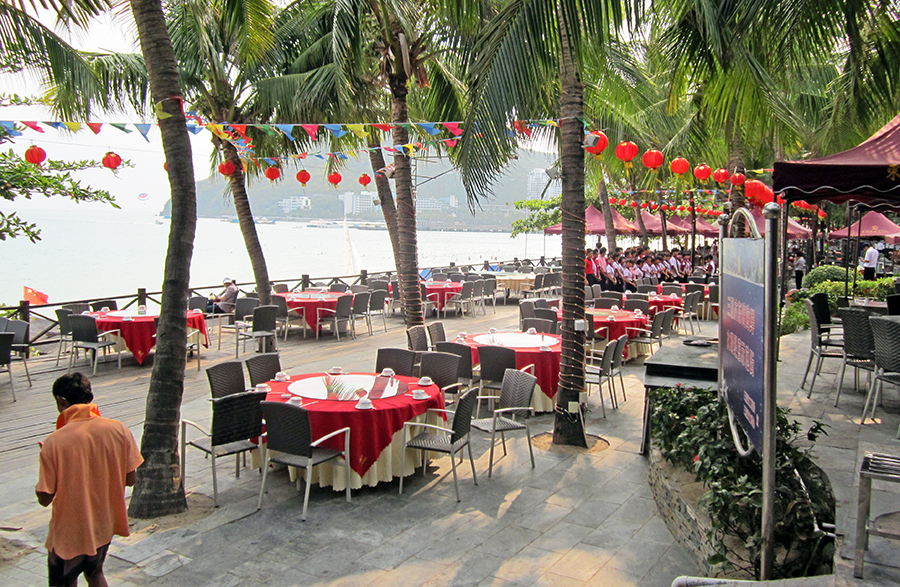 Restaurants along the beachfront promenade. Photo: Chris Ashton