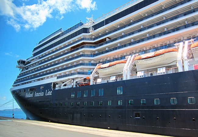 ms Oosterdam a Holland America Line ship. Photo: Chris Ashton
