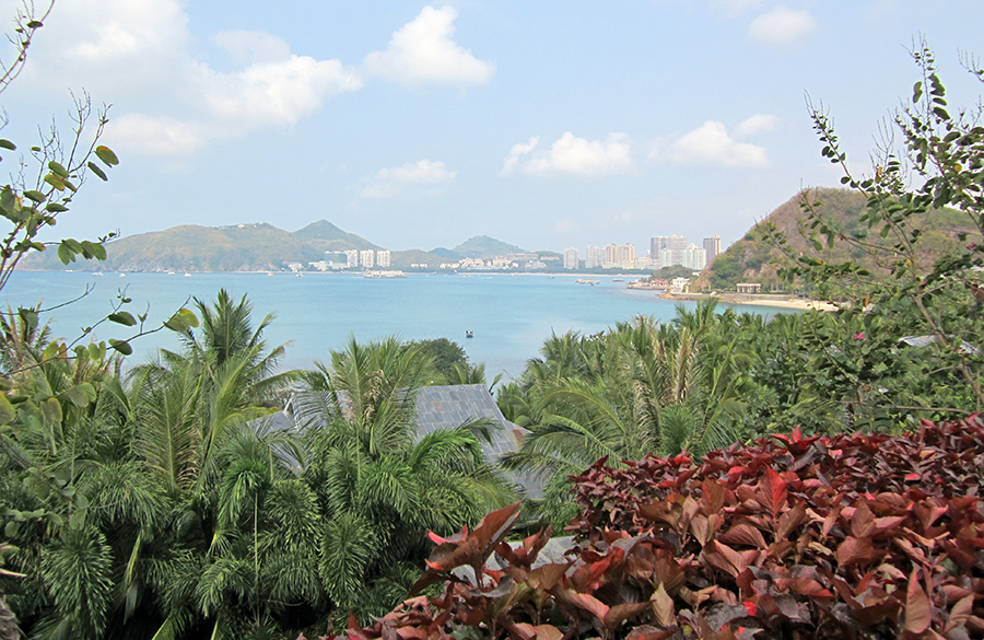 Looking towards Sanya from the hotel. Photo: Chris Ashton