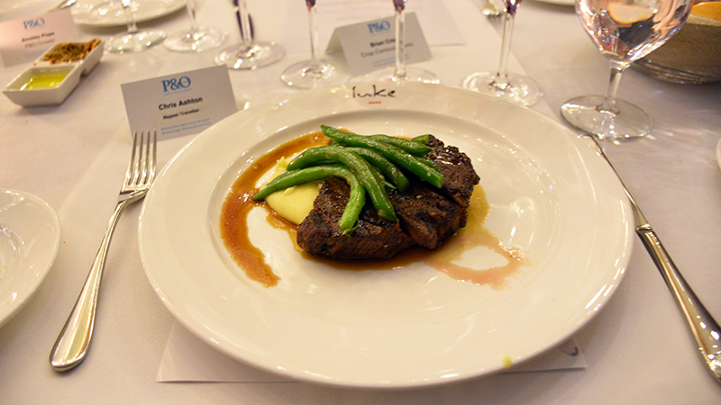 Moroccan spiced Black Angus with truffle potato and green beans. Photo: Chris Ashton