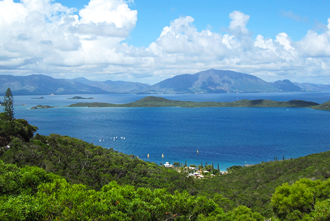 The view from Ouen Toro Lookout, Noumea. Photo: Chris Ashton