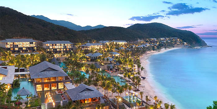 Aerial view of the resort. Photo: Mandarin Oriental Sanya