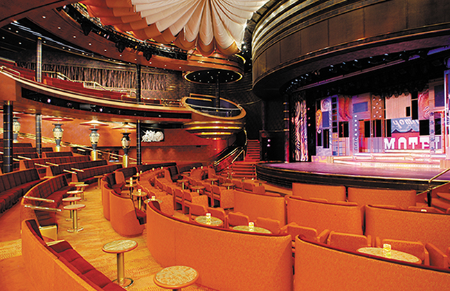 The Vista Lounge Theatre. Photo: Holland America Line