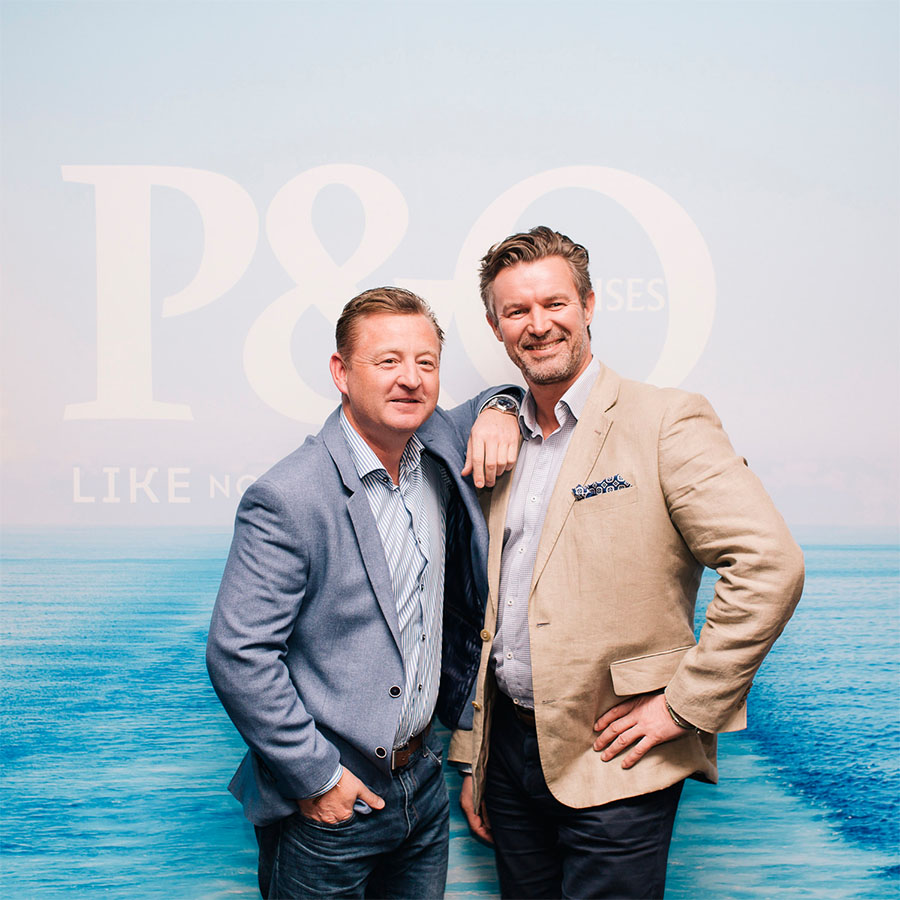 Chef Luke Mangan and P&O Cruises' Senior VP Sture Myrmell. Photo: P&O Cruises