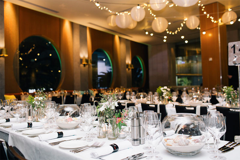 Salt grill transformed for the Ship to Shore event. Photo: P&O Cruises