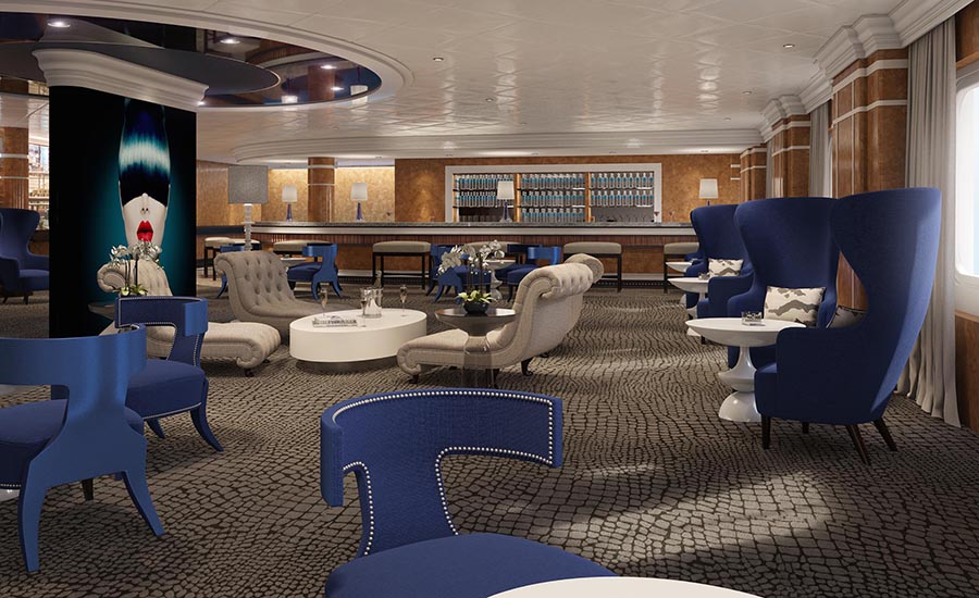 The trendy new Mix Bar. Photo: P&O Cruises