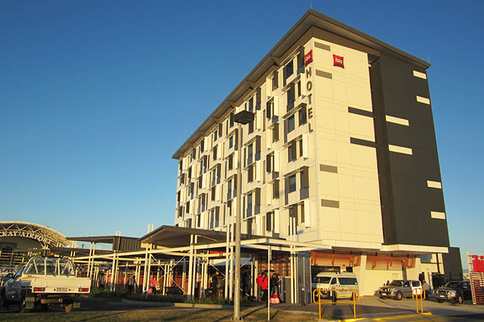 Exterior of the Ibis Mackay Airport. Photo: Chris Ashton