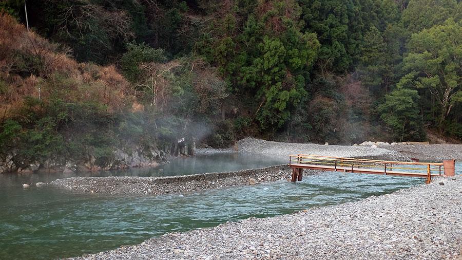Open air onsen at Fujiya Ryokan, Kawayu. Photo: Chris Ashton