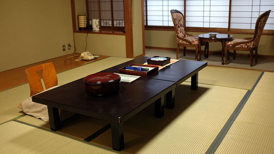 Guest room at Fujiya Ryokan. Photo: Chris Ashton