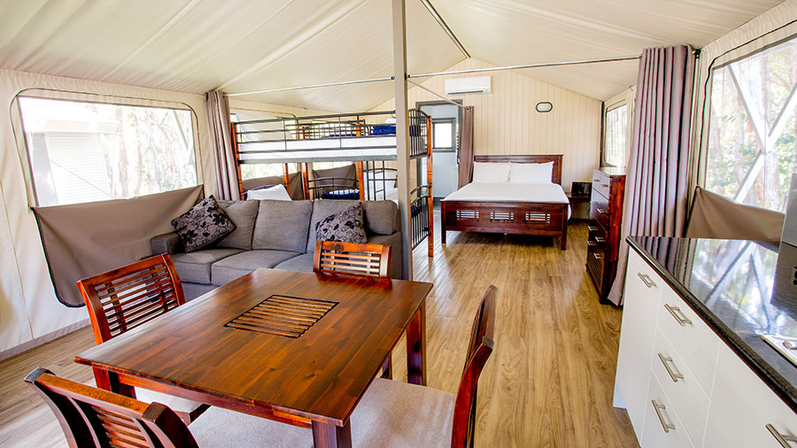 The thing that really surprised us though was the price tag. Both the Deluxe Cabins and the Safari Tents sleeping up to six guests start at around $150 a ... & Byron Bayu0027s best value family accommodation - Repeat Traveller