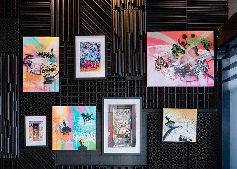 Melbourne New Graffiti Hotel Room